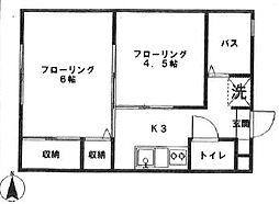 カーサアカギ[103号室]の間取り