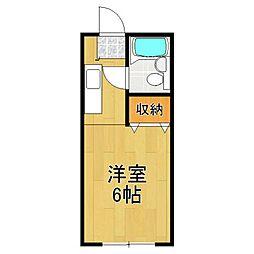 カーサ中田 1号棟[105号室]の間取り