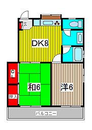 エクセルビル[2階]の間取り