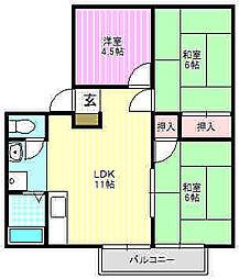 シャインハヤミ[1階]の間取り