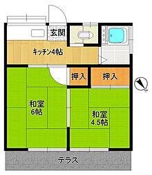 第二太田荘[101号室]の間取り