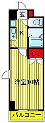 クレストガーデン野田[108号室]の間取り
