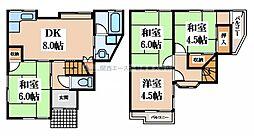 [一戸建] 大阪府大東市諸福3丁目 の賃貸【/】の間取り