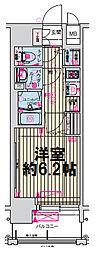 ララプレイス大阪城公園ヴェルデ 9階1Kの間取り