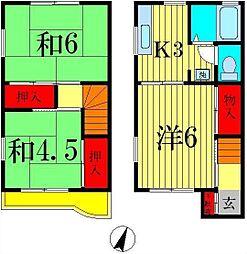 [テラスハウス] 千葉県松戸市新松戸3丁目 の賃貸【千葉県 / 松戸市】の間取り