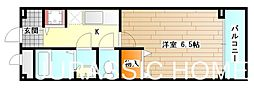 大阪府堺市北区百舌鳥本町3丁の賃貸マンションの間取り