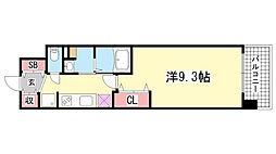 アルファレガロ神戸WEST[3階]の間取り