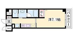 シャーメゾン三宮[2階]の間取り