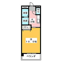 LAKE ONE(レイクワン)[3階]の間取り