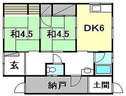 [一戸建] 愛媛県松山市旭町 の賃貸【愛媛県 / 松山市】の間取り