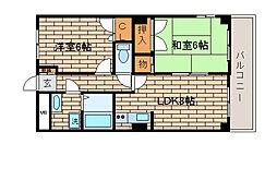 兵庫県神戸市長田区房王寺町4丁目の賃貸マンションの間取り