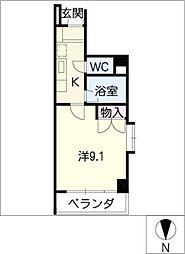 シティライフ春岡[2階]の間取り
