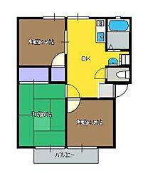 神奈川県茅ヶ崎市浜竹1丁目の賃貸アパートの間取り