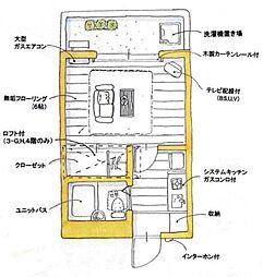 ユトリロ草間[3-A号室]の間取り