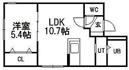 北海道札幌市西区二十四軒四条7丁目の賃貸マンションの間取り