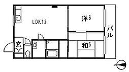 平木ハウス[203号室]の間取り