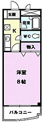 アベニュー名駅[101号室]の間取り