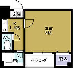 ロータリー45[3階]の間取り