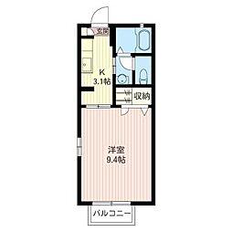 ピースタウン[2階]の間取り