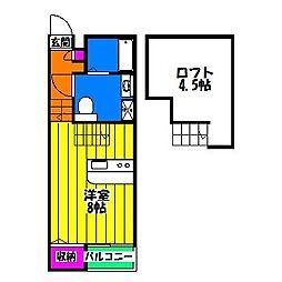 プチコポー[1階]の間取り