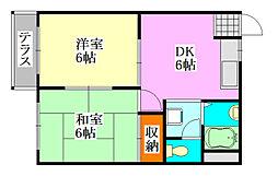 メゾン津田沼[101号室]の間取り