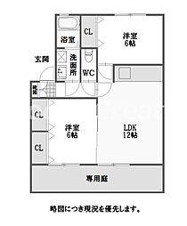 徳島県徳島市北矢三町1丁目の賃貸アパートの間取り