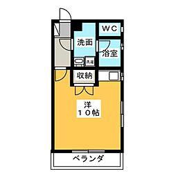 コーポ平野[2階]の間取り