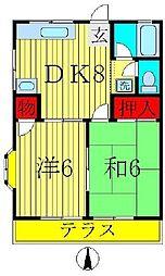 第5コーポ米倉[2階]の間取り
