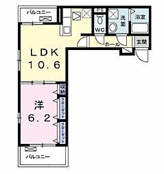 クーラン デール A[1階]の間取り