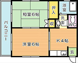 松田ビル[3階]の間取り