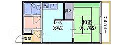 コーポサンフラワーA[2階]の間取り
