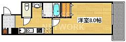 京都烏丸保粋ビル[605号室号室]の間取り
