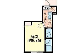 デルタ横浜[1階]の間取り