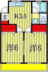 藤井マンション[3階]の間取り