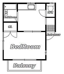 ヴェガ天台[2階]の間取り