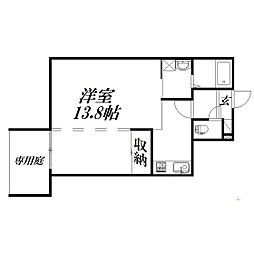 静岡県浜松市中区十軒町の賃貸アパートの間取り