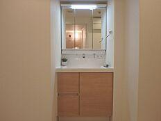 忙しい朝の時間に重宝するシャワー付洗面台