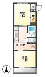 第3ハイツ志津[2階]の間取り