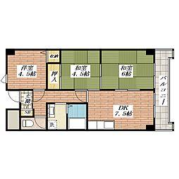 ヌーヴェレール南茨木[2階]の間取り