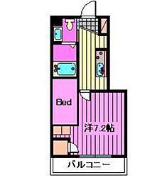 埼玉県さいたま市大宮区宮町3丁目の賃貸マンションの間取り