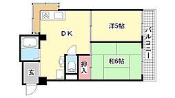 篠原南マンション[305号室]の間取り