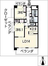ピュアフォレスト[5階]の間取り