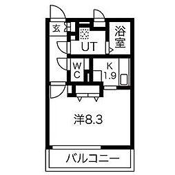 愛知県名古屋市南区元柴田東町3丁目の賃貸アパートの間取り