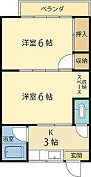 第2眞和荘[2階]の間取り