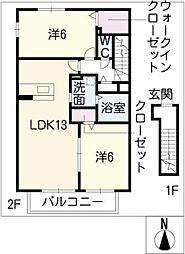 メイポップ[2階]の間取り