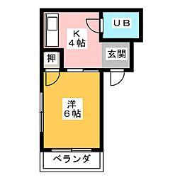 太国レジデンス[1階]の間取り
