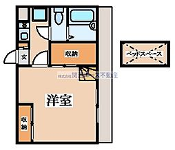 近鉄大阪線 河内山本駅 徒歩27分の賃貸アパート 1階1Kの間取り