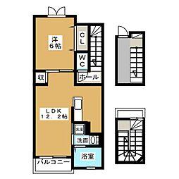 プリミエ−ル[3階]の間取り