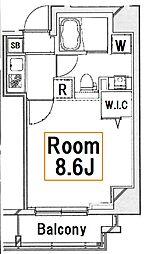 ライズコート木場ステーションフロント[2階]の間取り