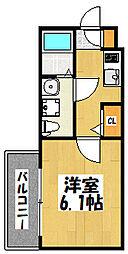 大阪府大阪市旭区高殿6丁目の賃貸アパートの間取り